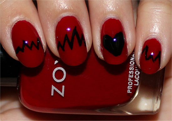 Heartbeat Nail Art Nail Tutorial