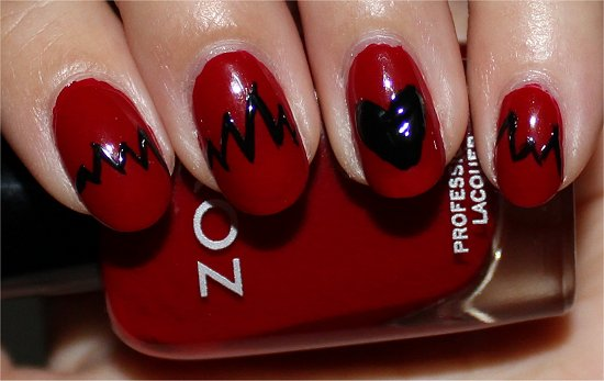 Heartbeat Nails Nail Art Tutorial Step 4