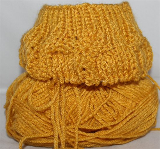 Mustard Hat I Knitted 2