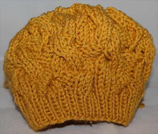 Mustard Hat I Knitted 3