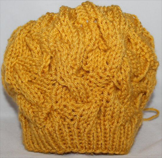 Mustard Hat I Knitted 4