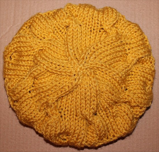 Mustard Hat I Knitted 5