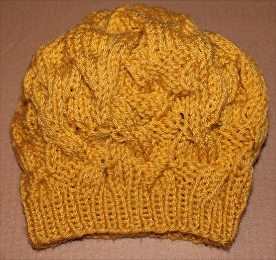 Mustard Hat I Knitted 6