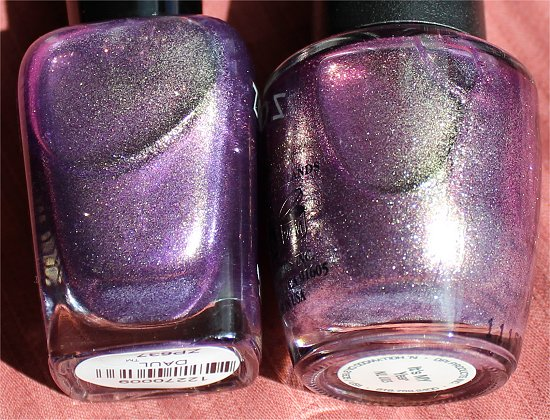 OPI It's My Year vs Zoya Daul Comparison Photographs