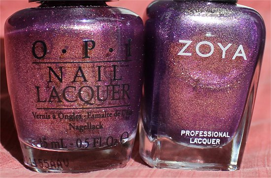 OPI It's My Year vs Zoya Daul Comparison Pics