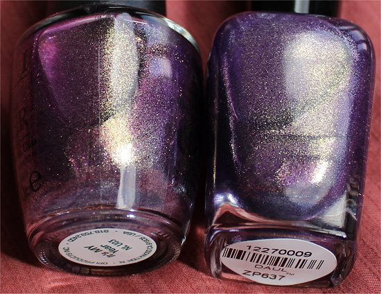 OPI It's My Year vs Zoya Daul Comparison Pictures