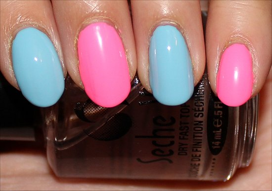 Pink-Blue-Leopard-Nails-Nail-Art-Tutorial-Step-2