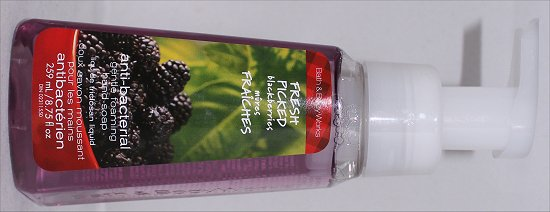 Bath &amp; Body Works Fresh Picked Blackberries Soap Review &amp; Pictures