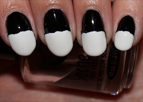 Bride of Frankenstein Nails Nail Art Tutorial Step 3