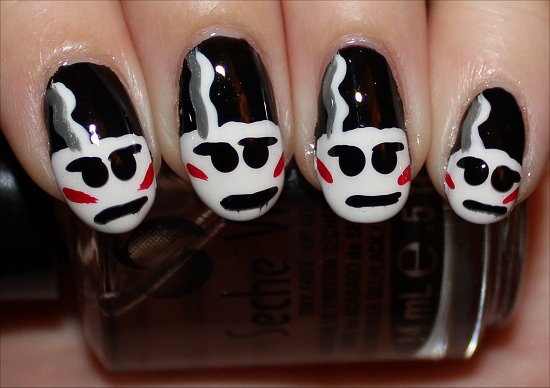 Bride-of-Frankenstein-Nails-Nail-Art-Tutorial