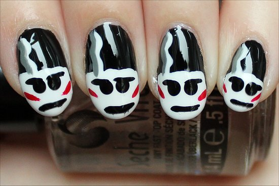 Bride of Frankenstein Nails Photos