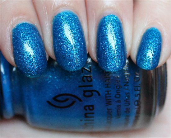 China Glaze Blue Sparrow Swatch &amp; Pics
