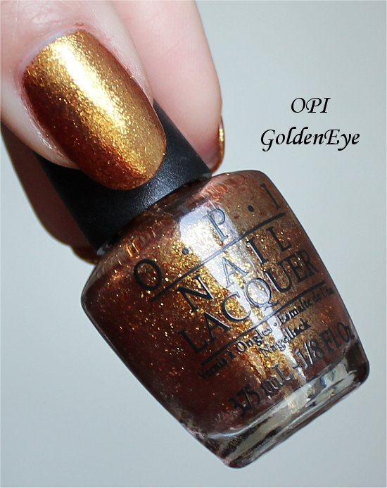 Golden Eye OPI Swatch & Review