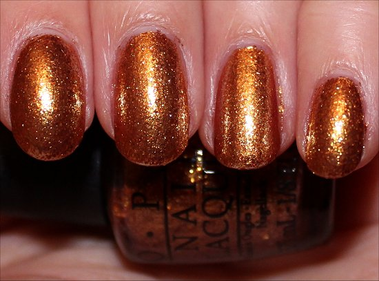 GoldenEye by OPI Swatches & Review