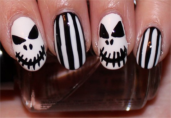 Halloween Nails Nail Art Tutorial The Nightmare Before Christmas Nail Art