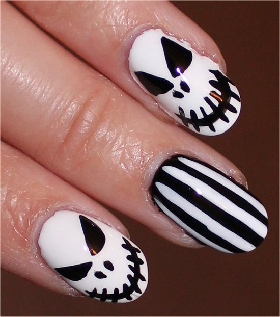 Nail Art Tutorial Jack Skellington Nails Nightmare Before