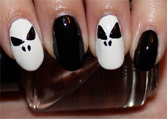 Jack Skellington Nails Nail Art Tutorial Step 4
