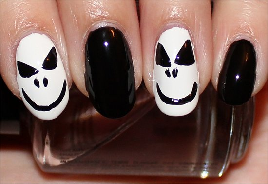 Jack Skellington Nails Nail Art Tutorial Step 5