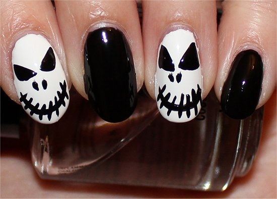 Jack Skellington Nails Nail Art Tutorial Step 6