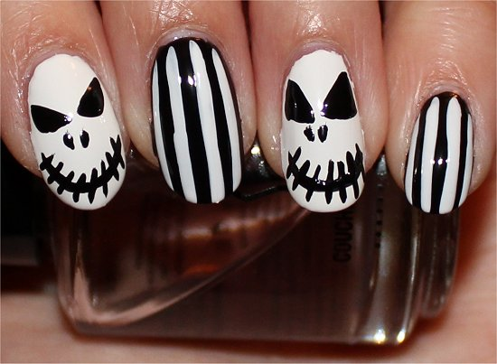 Jack Skellington Nails Nail Art Tutorial Step 7
