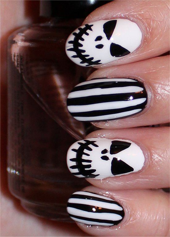 Jack Skellington Nails Nail Art