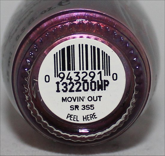 Movin' Out by OPI Suzi Weiss-Fischmann