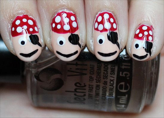 Nail Art Tutorial Pirate Nails