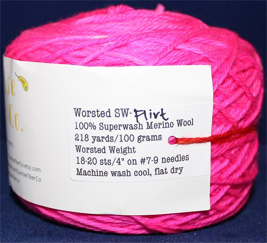 Neon Pink Indie Hand Dyed Yarn Merino Wool Yarn Knitting