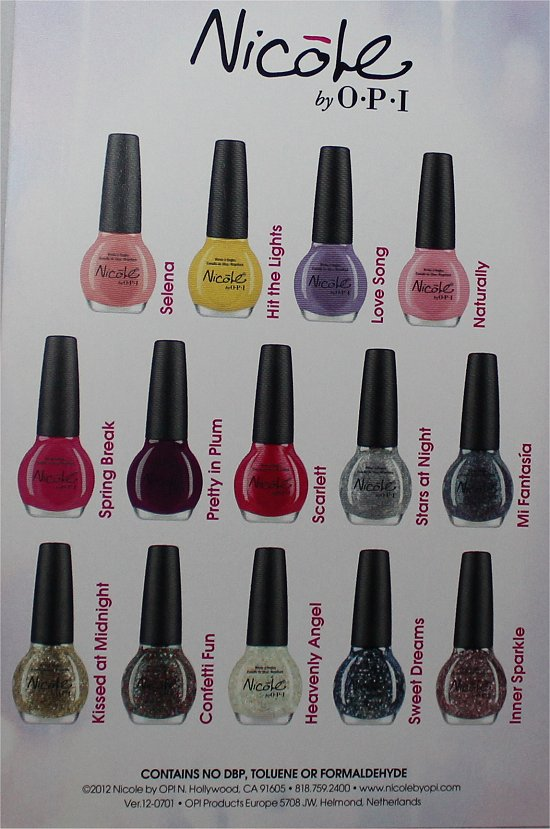 Nicole by OPI Selena Gomez Collection Press Release & Promo Pics