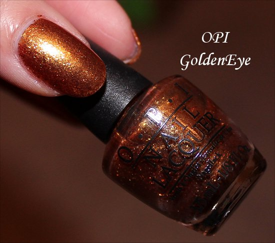 OPI Golden Eye Skyfall Collection