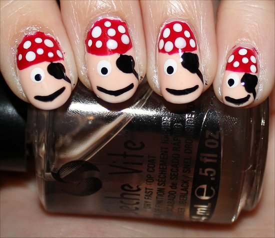 Pirate Manicure Nail Tutorial