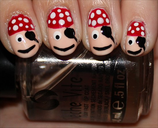 Pirate Nails Nail Art Tutorial