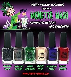 Pretty Serious Cosmetics Monster Mash Collection Press Release & Promo Pictures smaller
