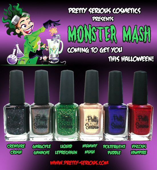 Pretty Serious Cosmetics Monster Mash Collection Press Release & Promo Pictures