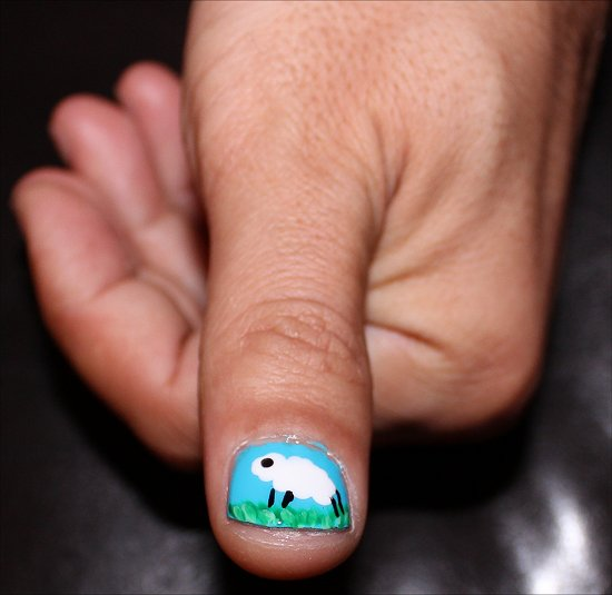 Sheep Nails Nail Art Tutorial &amp; Pictures
