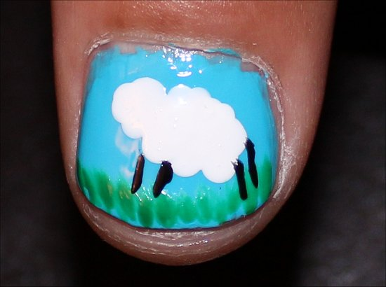 Sheep Nails Nail Art Tutorial Step 5