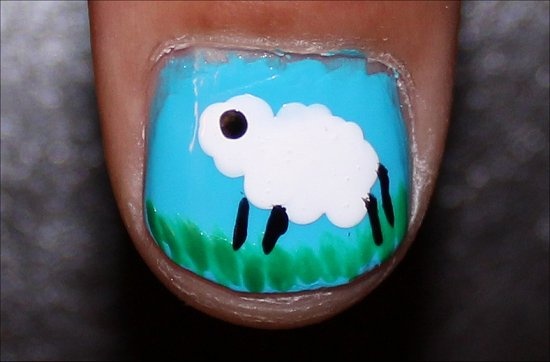 Sheep Nails Nail Art Tutorial Step 6