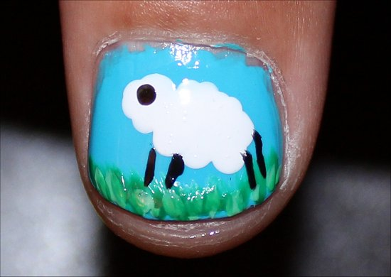 Sheep Nails Nail Art Tutorial Step 7