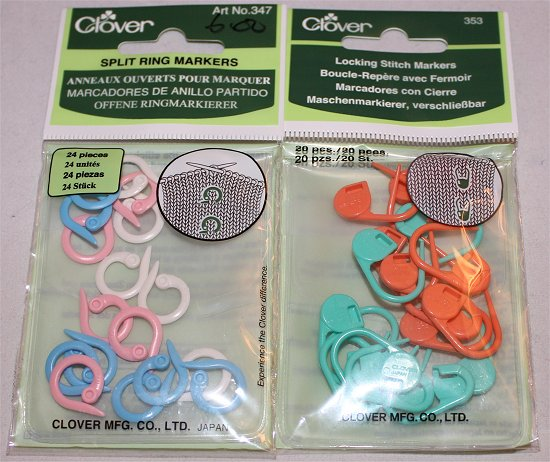 Split Ring Markers Locking Stitch Markers