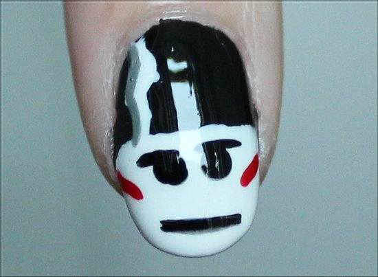 The Bride of Frankenstein Nail Art Tutorial & Pictures