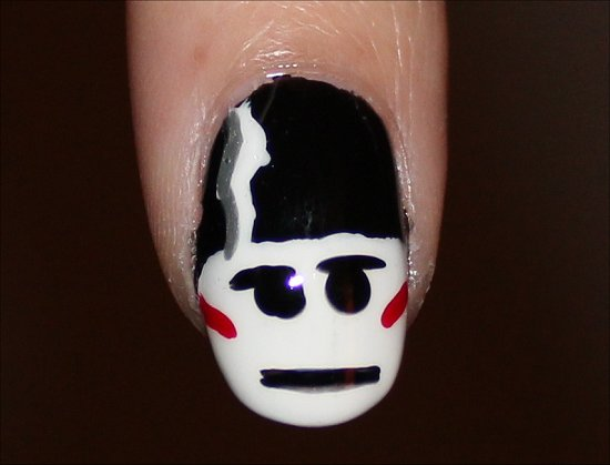 The Bride of Frankenstein Nails Nail Art Halloween Manicures