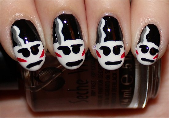 The Bride of Frankestein Nails Halloween Nail Art