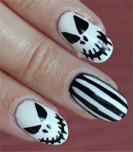 The Nightmare Before Christmas Halloween Nails Nail Art
