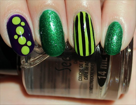 Nail art green fiend nails swatch and learn nail art using colours form the china glaze cirque du soleil collection prinsesfo Gallery
