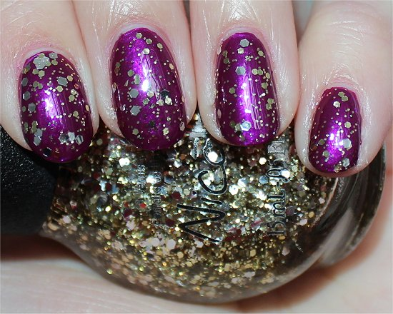 Nicole by OPI Kissed At Midnight Swatch, Review & Photos