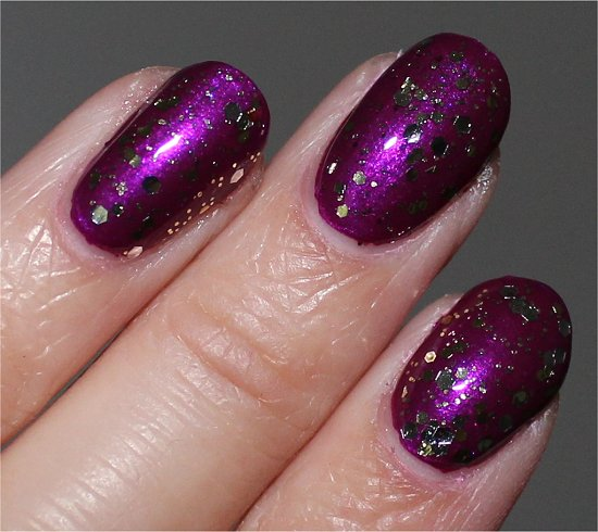 Nicole by OPI Kissed At Midnight Swatch