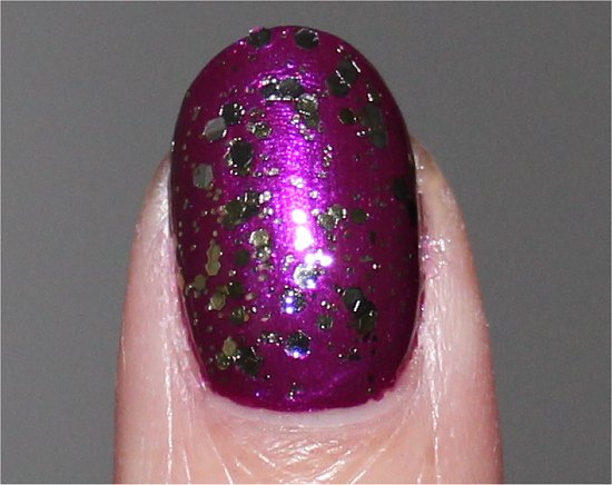 Nicole by OPI Kissed At Midnight Swatches
