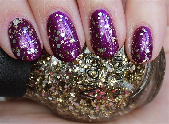 Nicole by OPI Kissed at Midnight Swatch Selena Gomez Collection Swatches