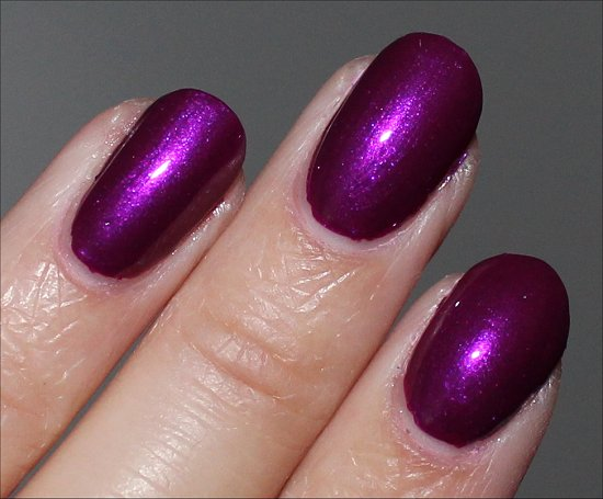 Nicole by OPI Pretty in Plum Swatches & Review