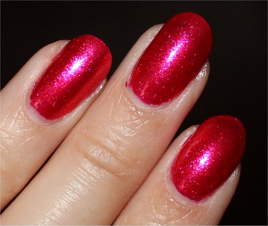 Nicole by OPI Scarlett Swatch